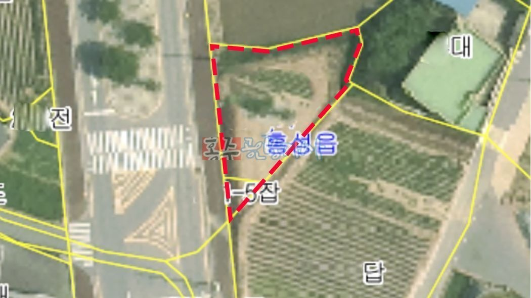 홍성읍 청운대학교 정문앞 시내권에서는 저렴하고 아담한 토지