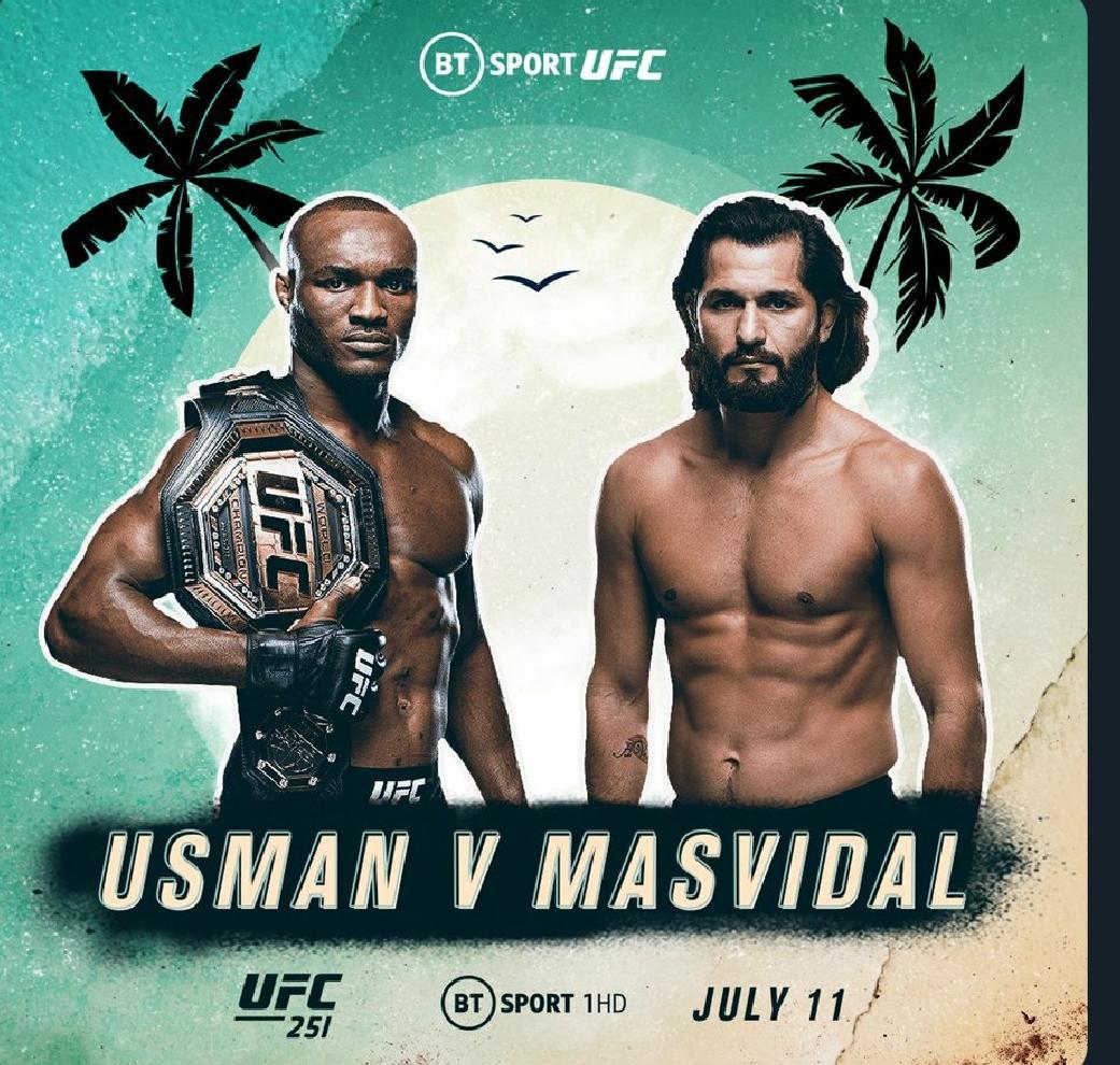 [UFC 속보] 카마루 우스만 VS 호르헤 마스비달 UFC251 협상 완료!!!