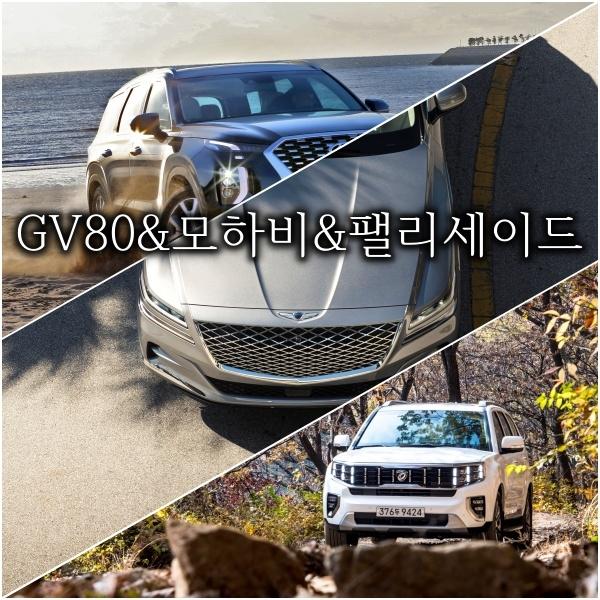 모하비 & GV80 & 팰리세이드 가격 세금 유지비 보험 [디젤 비교]