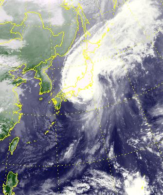 일본태풍  하기비스와 지진 5.7지진 발생  진도 7.0-8.0대 지진 경보