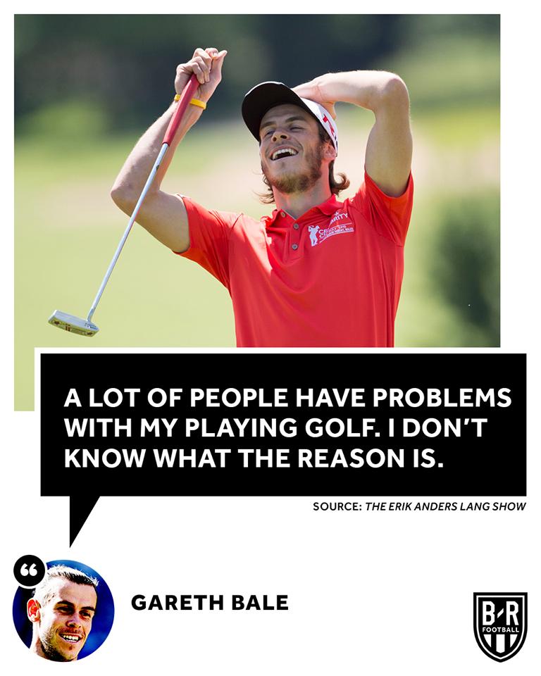 """[BR 풋볼] 가레스 베일 """"내가 골프를 치는것에 대한 비난을 이해할수 없다"""""""