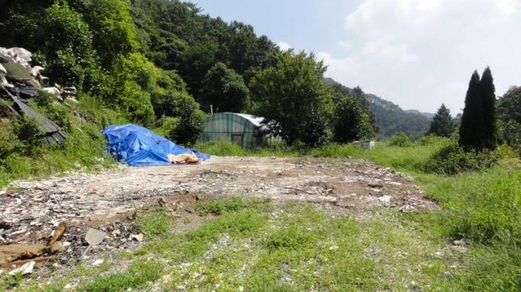 충남 공주시 유구읍 노동리 계곡을 끼고있는 전원주택부지