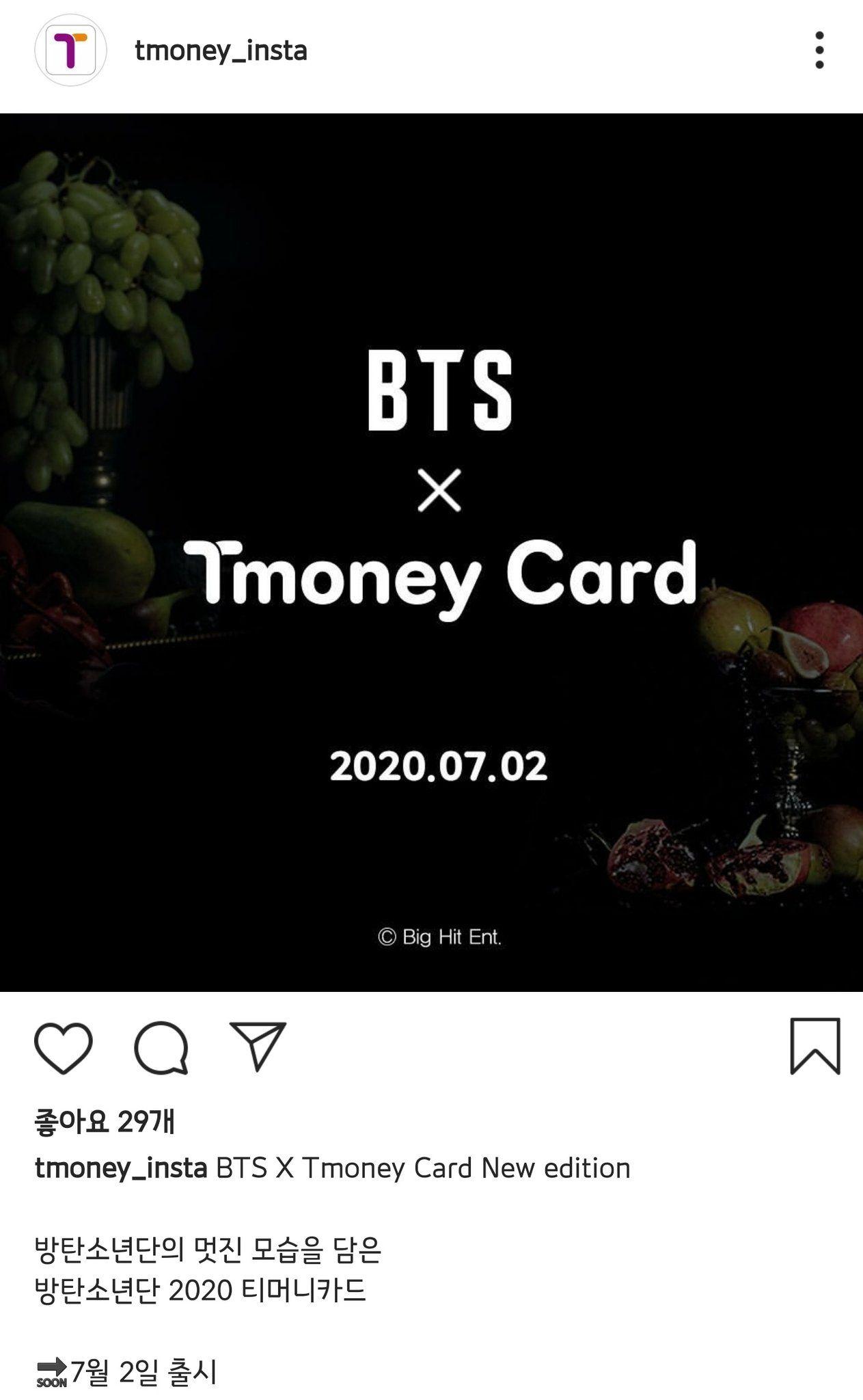 BTS X Tmoney Card New edition