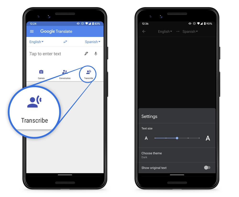 외국어 녹음-번역-문자 변환…구글, 번역앱에서 8개국 트랜스크라이브 지원