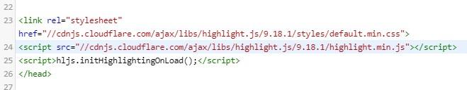 hightlight.js 적용