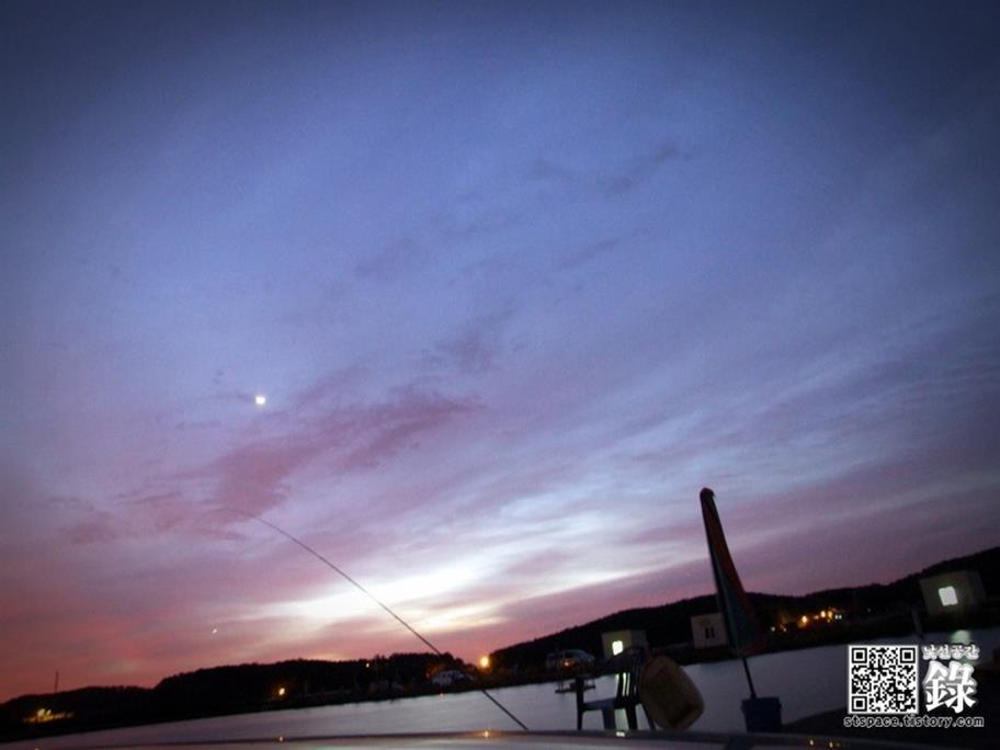 대부도 프로바다낚시터 새벽 야경 사진