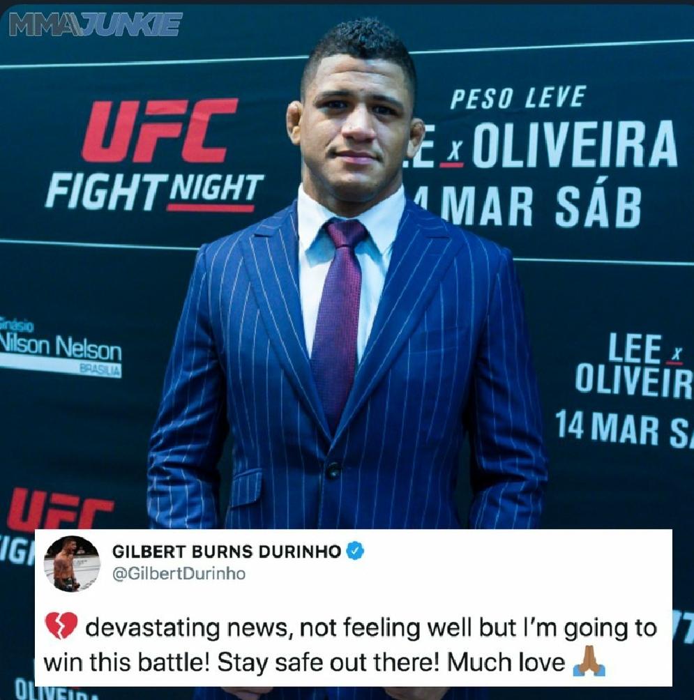 [UFC 속보] 길버트 번즈 코로나19 확진으로 UFC251 메인이벤트에서  아웃