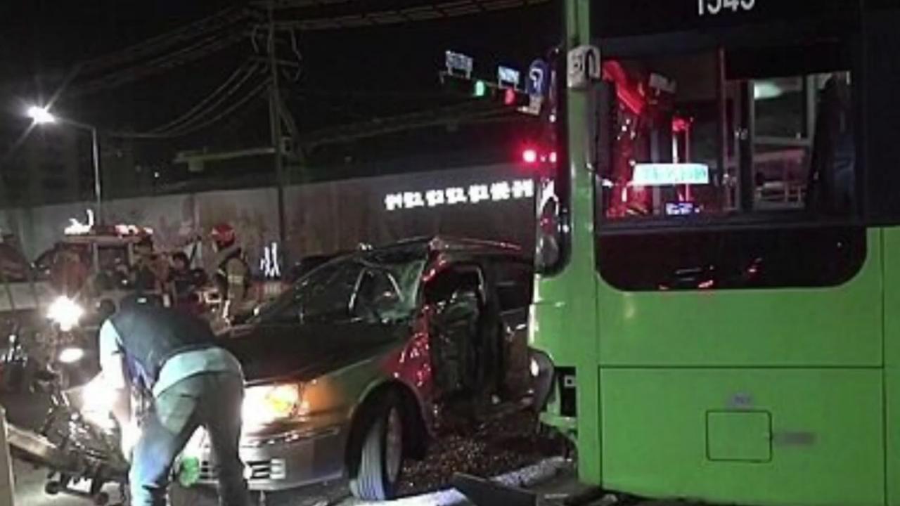 금천구 독산동 버스사고 추돌 블랙박스 영상 경기도 900번 버스