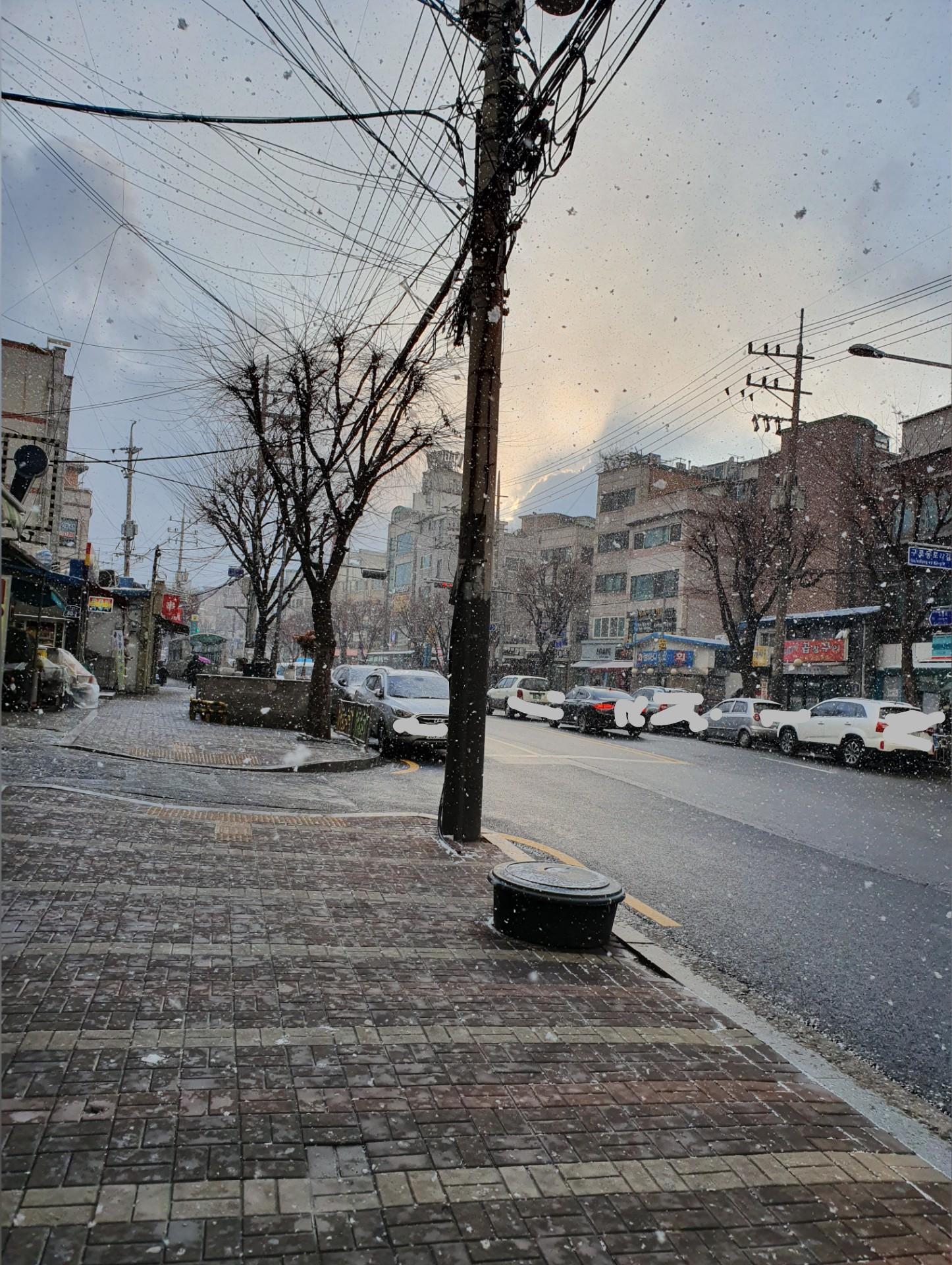 2월 중순에 내리는 눈...