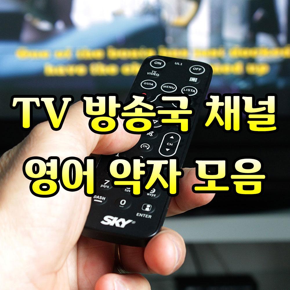 tv방송채널약자