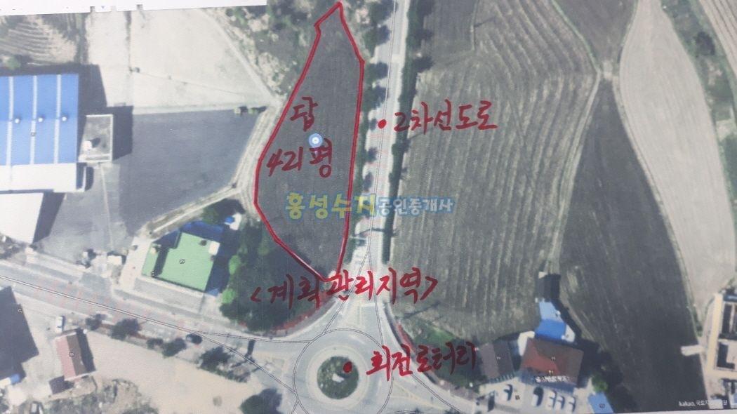 면소재지에 수익형 건물용 토지[가격인하2억3천만원]