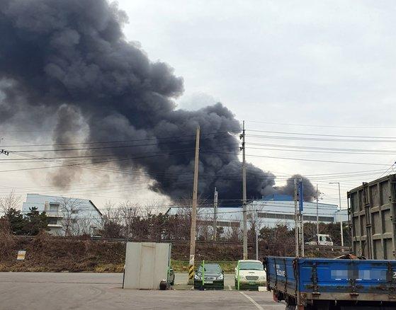 당진 동부제철 공장 화재