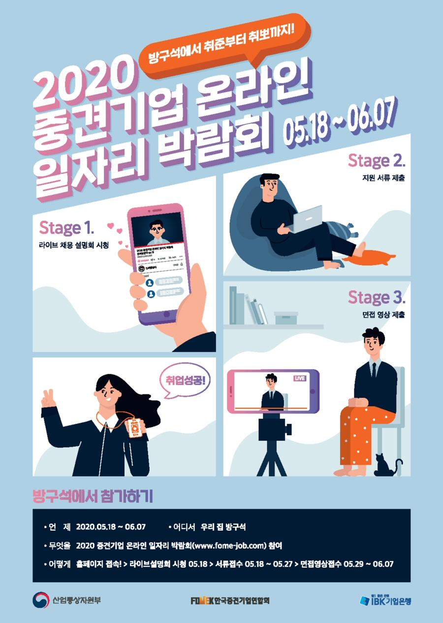 ▲ '2020 중견기업 온라인 일자리 박람회' 포스터