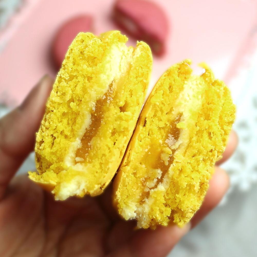 쌀마카롱-망고(1개) 달지 않은 빅사이즈 마카롱, 디저트전문 파티쉐의 특급레시피 맛있는 선물 - 디저트라이스, 3,120원, 쿠키/케익/빵, 빵
