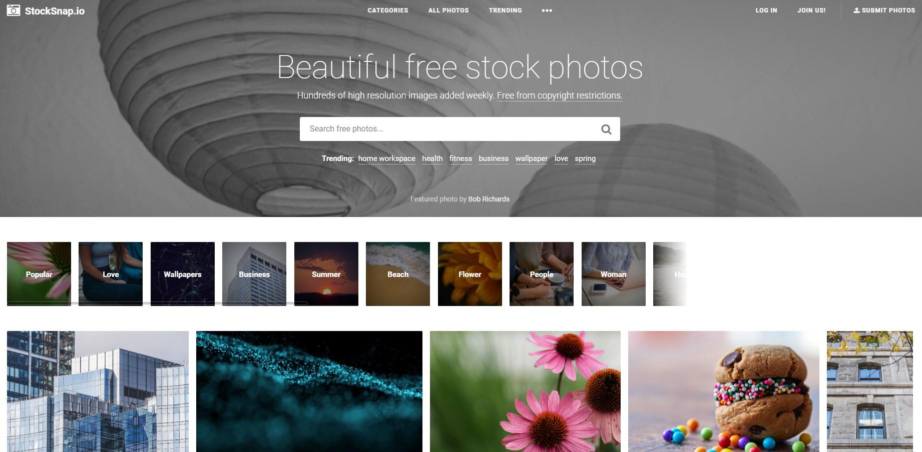 StockSnap 사이트