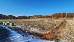 마을 상단부에 자리한 농지원부용 영농지