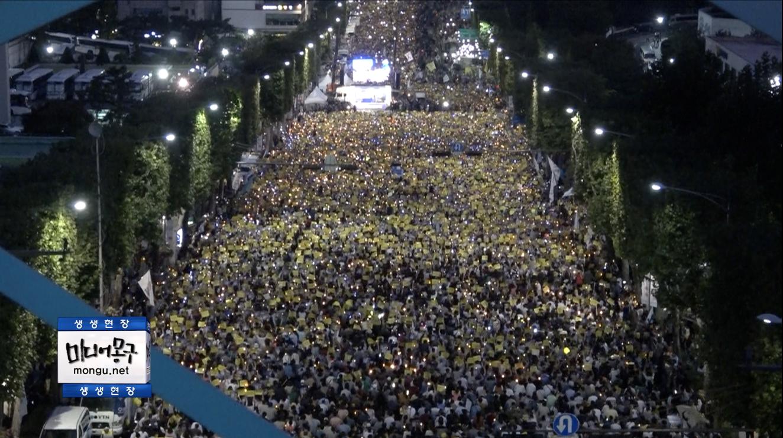 [영상][검찰개혁] 위에서 본 촛불집회, 소름 돋았던 장면들