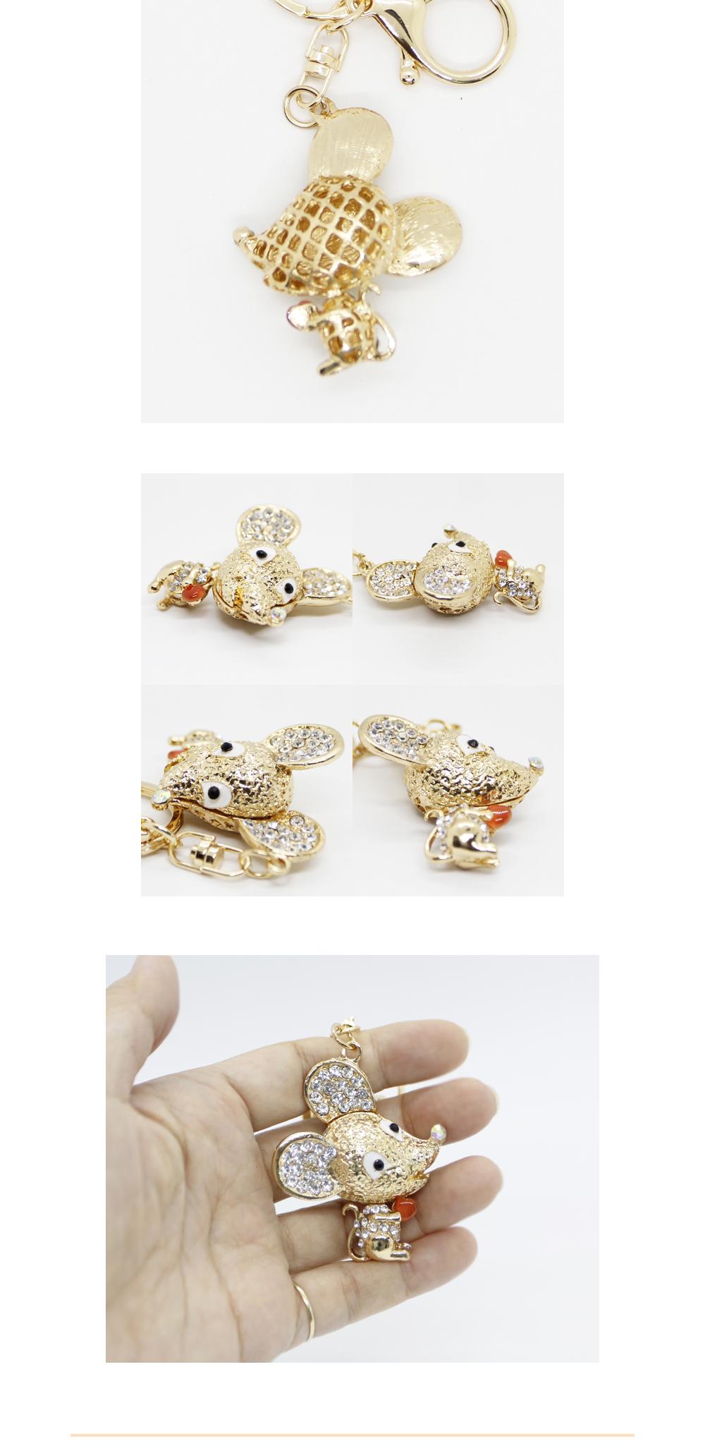 귀여운 생쥐 럭셔리 키링(4colors) - 다주소, 4,400원, 열쇠고리/키커버, 캐릭터