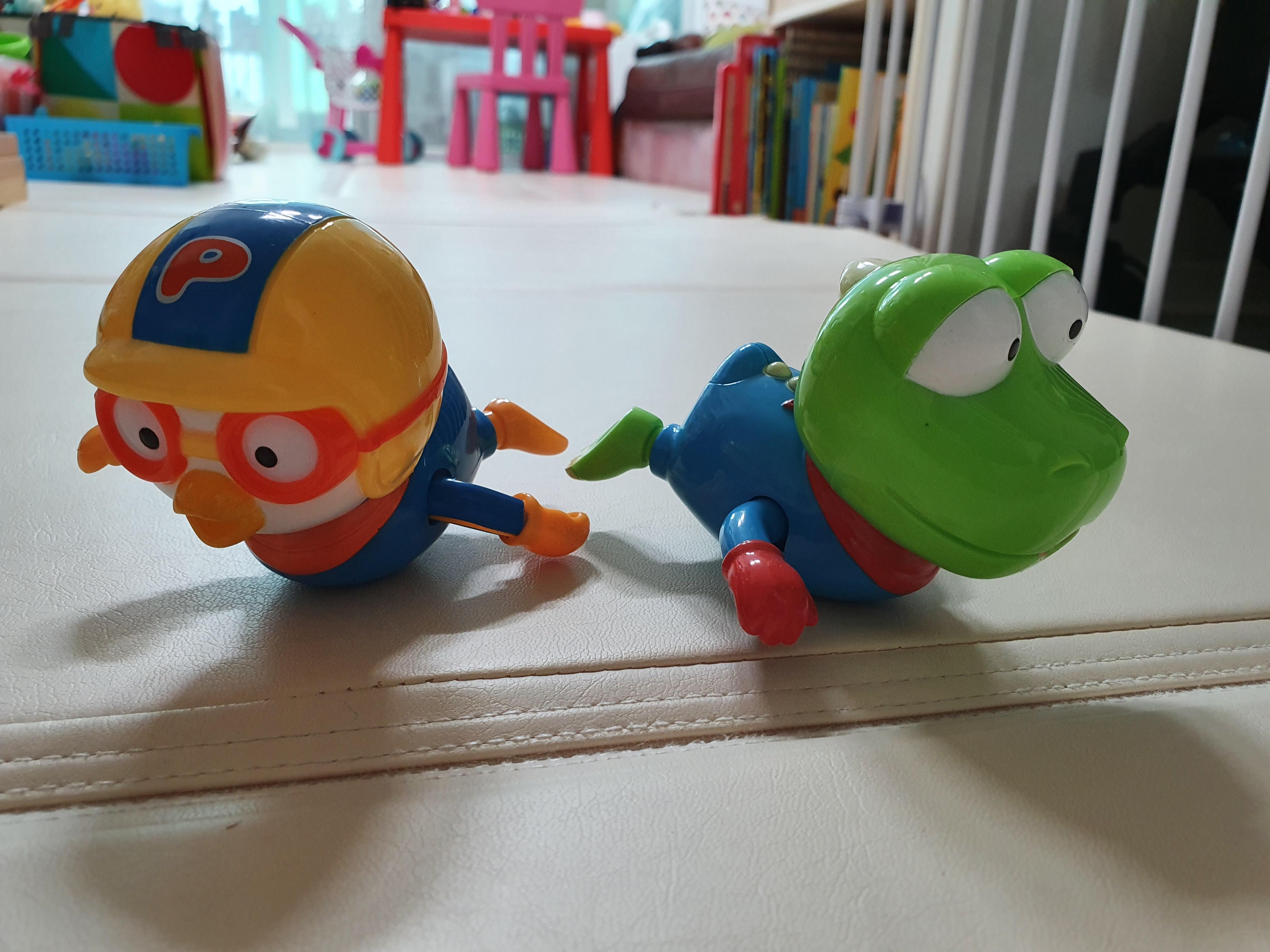 수영하는 뽀로로와 크롱 장난감 : 30개월 아이 목욕 힘들어