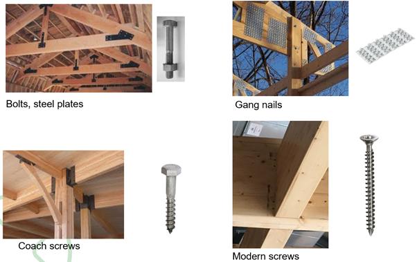 목조건축시 연결제 (Fastener)로서의 스크류의 장점