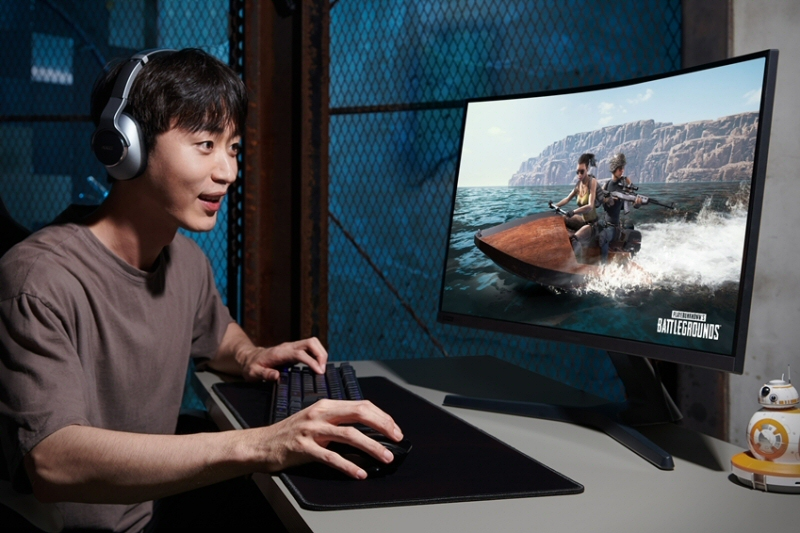 삼성전자, 커브드 게이밍 모니터 'CRG5' 27형 국내 출시