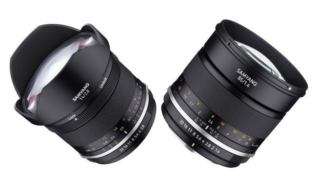 삼양이 새롭게 선보인 MF 14mm F1.4 Mk2,  MF 85mm F1.4 Mk2 단렌즈