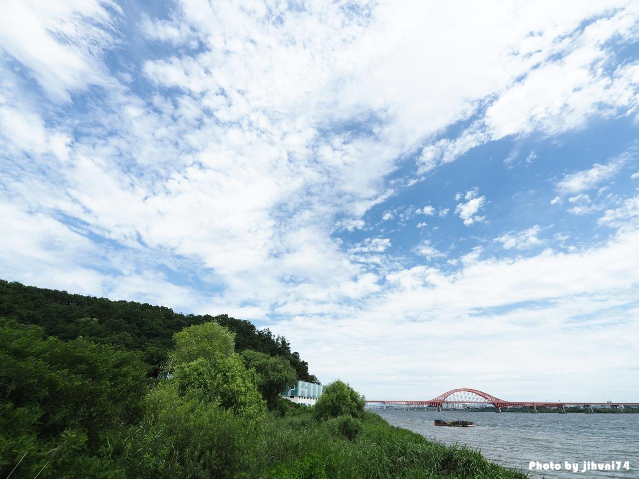 [행주산성 역사공원] 7월의 하늘과 함께 한 잠깐의 휴식