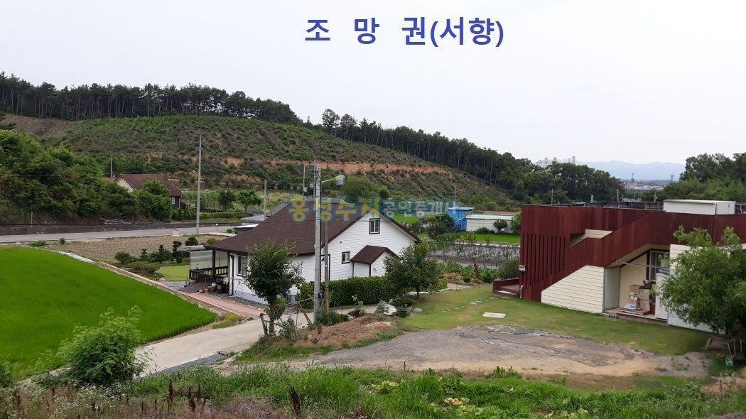 마을 전체가 산으로 둘러 싸여 아늑한 곳,전원주택용 토지