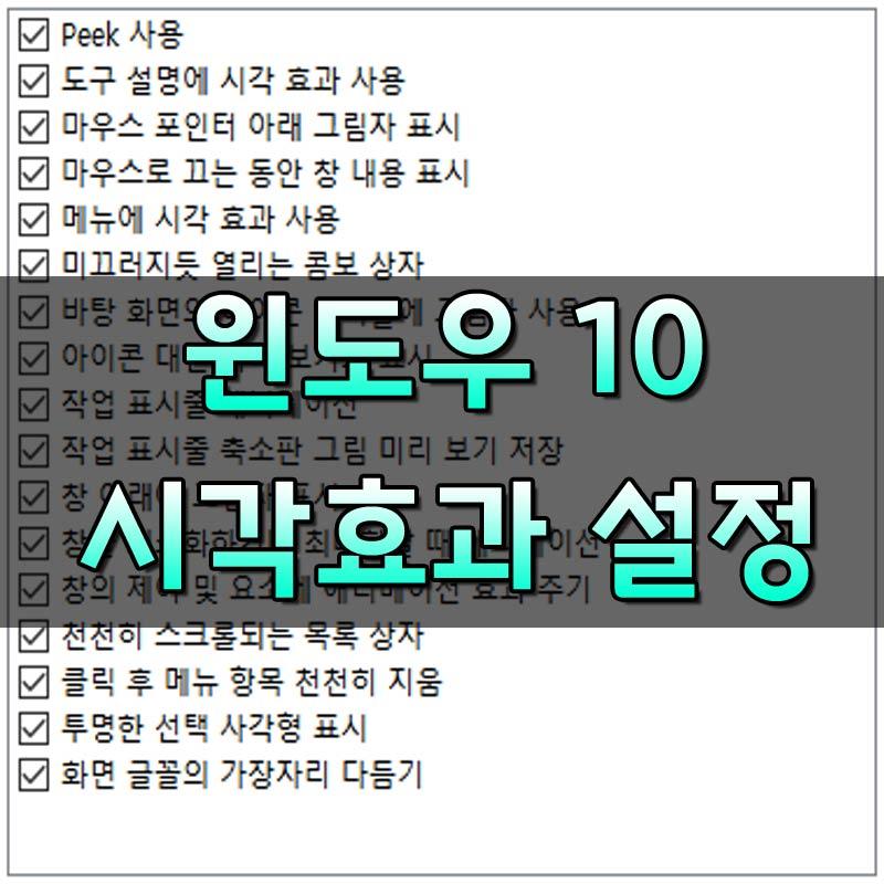 윈도우10시각효과