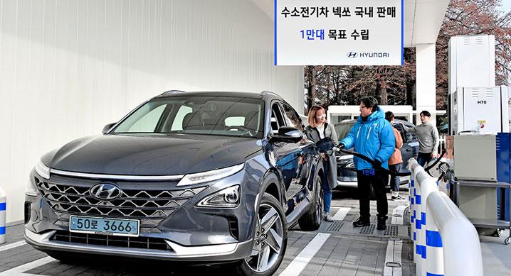 현대차, '넥쏘' 친환경 수소전기차 2020년 국내 판매 계획 1만100대