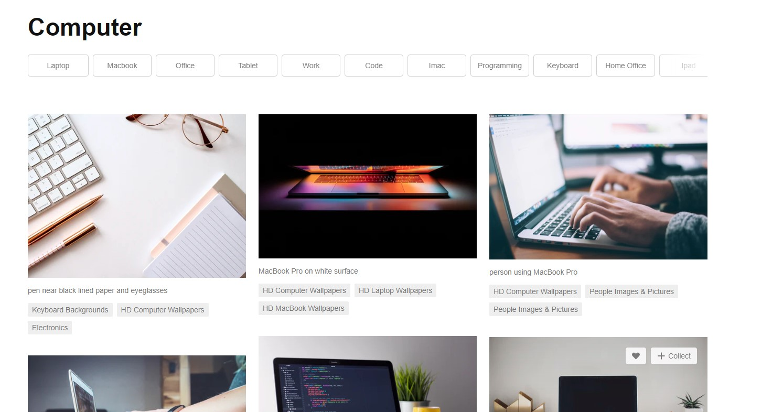 Unsplash 사이트