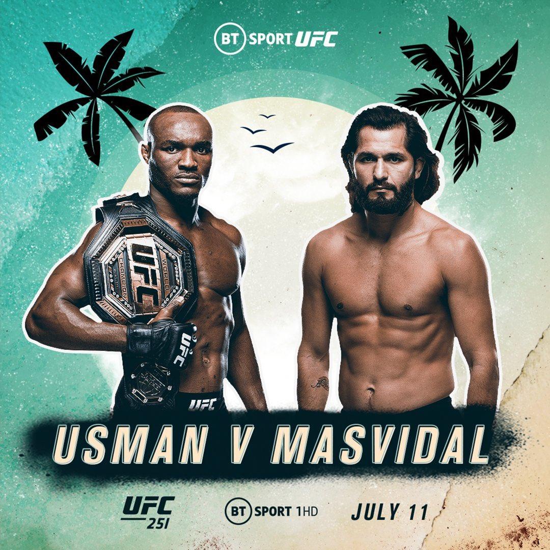 UFC251 우스만 VS 마스비달 대진표 -  Beyond BMF?