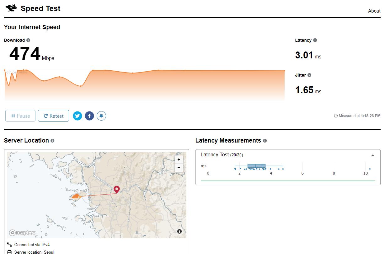 아주 빠른 인터넷 속도 측정 사이트 speed.cloudflare.com