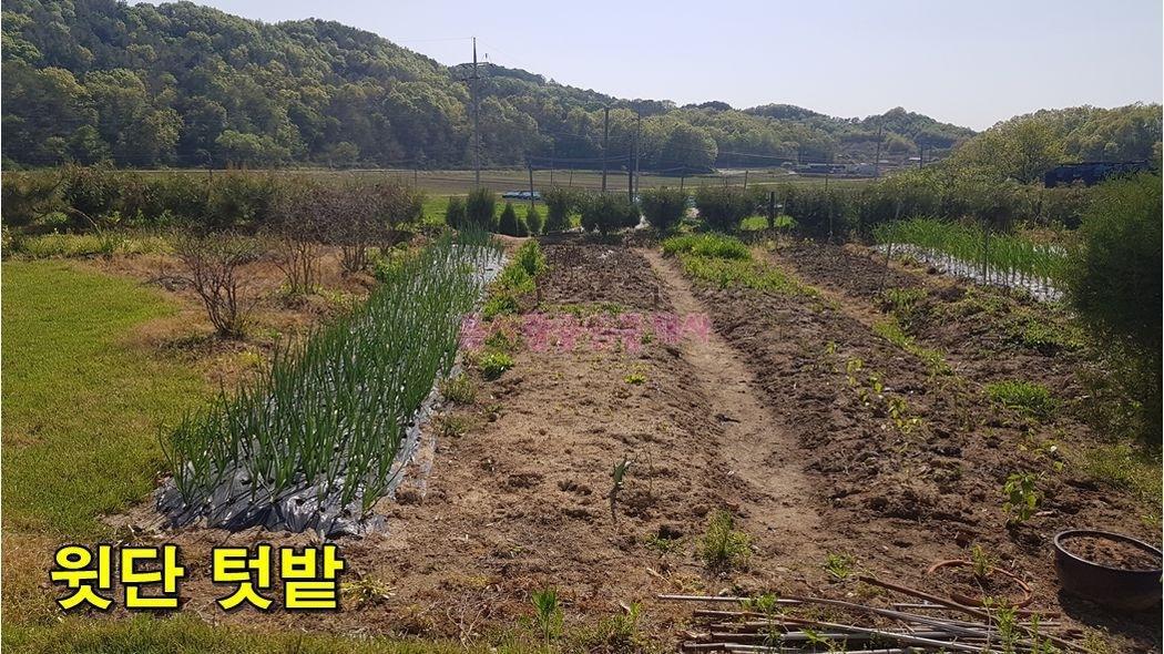 국도변 정남향의 토지 + 깔끔한 복층 농막