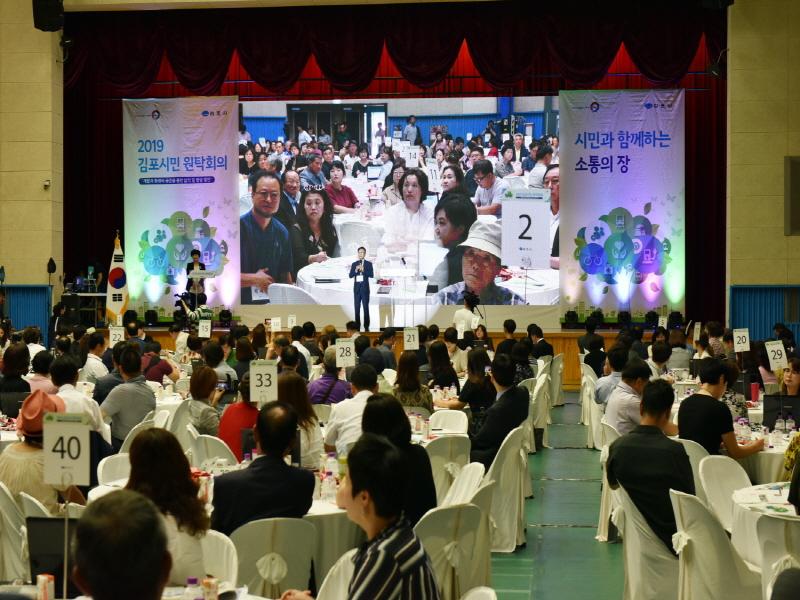 시민과의 소통의 장 '2019 김포시민 원탁회의' 개최