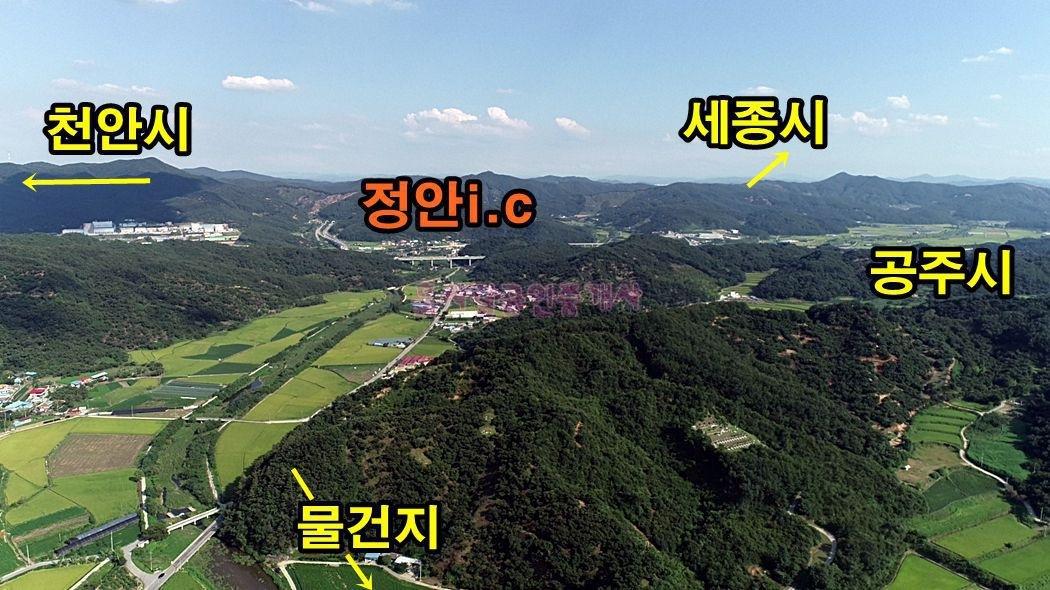 세종시 출퇴근 길목 정안i.c 아담한 토지매매(204평)