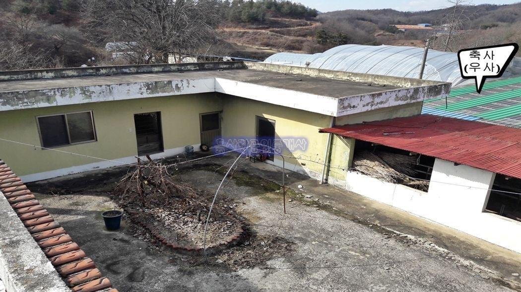 94년도 건축한 벽돌구조 주택(수리필요)과 텃밭