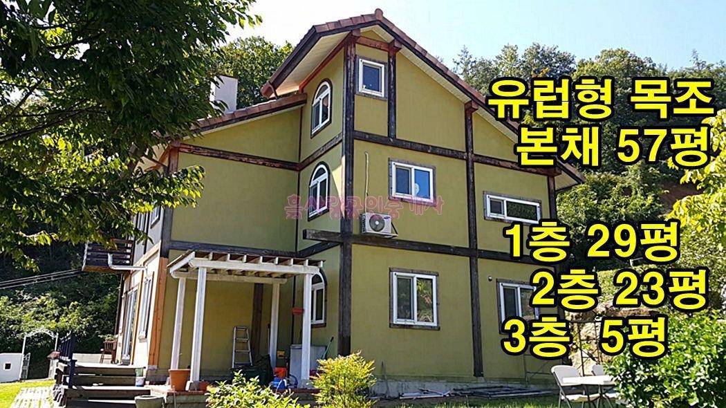저수지 전망 g! 고급 유럽형 목조주택 2동(분할매매가능)