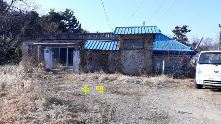 마을에서 가장 높은 위치에 귀농하실분들 한테 딱 맞는 주택과 땅