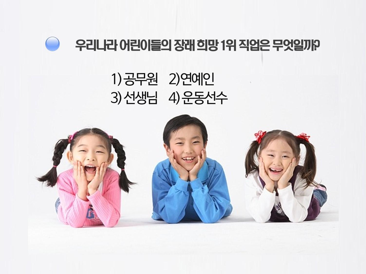 한국 학생의 선호도 1위 직업은 뭘까?