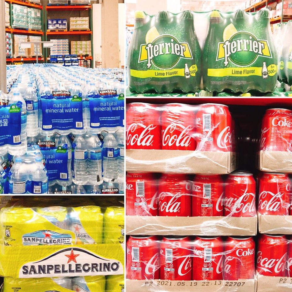 코스트코 생수 탄산수 페리에 코카콜라 펩시 웰치스 캔커피 레드불 가격 보기