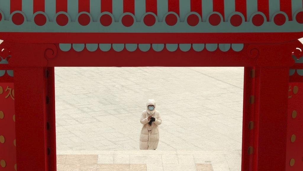 신종 코로나 바이러스로 텅빈 거리가 된 상하이 사진