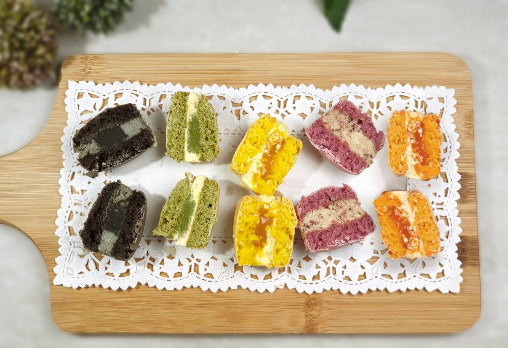 쌀마카롱-라즈베리(1개) 달지 않은 빅사이즈 마카롱 - 디저트라이스, 3,120원, 쿠키/케익/빵, 빵