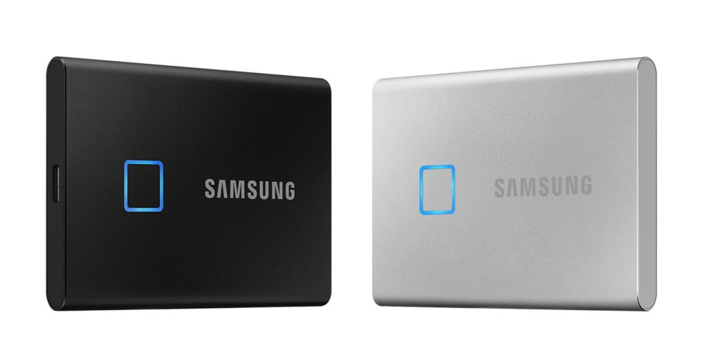 지문인식기가 달린 삼성전자 SSD 외장하드 T7