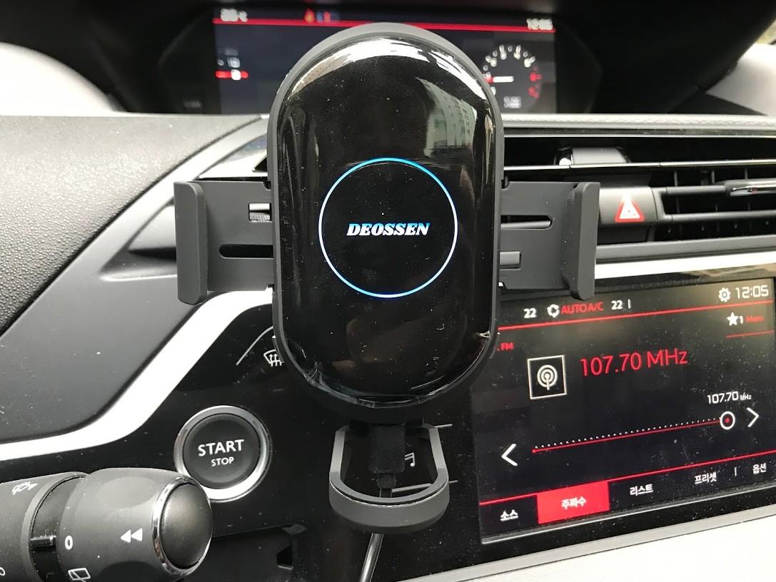 FOD 방식으로 오류가 없는 더쎈 차량용 무선충전거치대